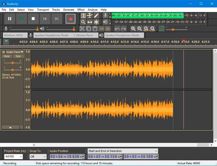 edicion audio gratis audacity