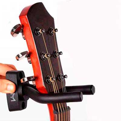 soporte pared guitarra percha