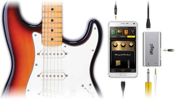 conectar guitarra a android irig
