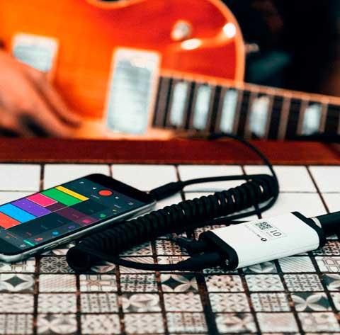 conectar guitarra con telefono movil bandlab