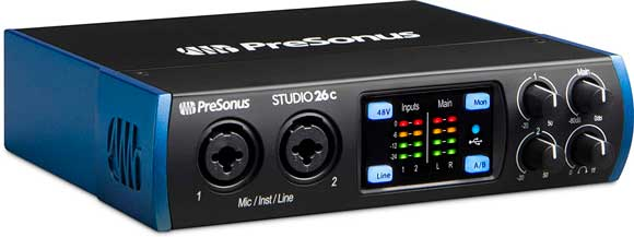 interfaces de audio pressonus studio