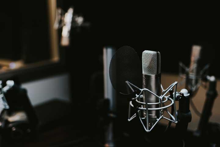 microfono condensador para estudio de grabacion