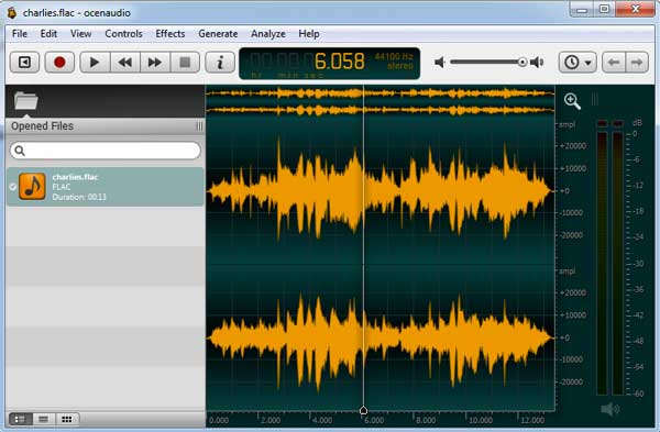 ocenaudio editor de audio gratis