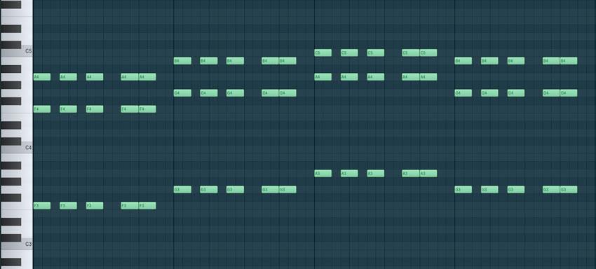 escribiendo en piano roll