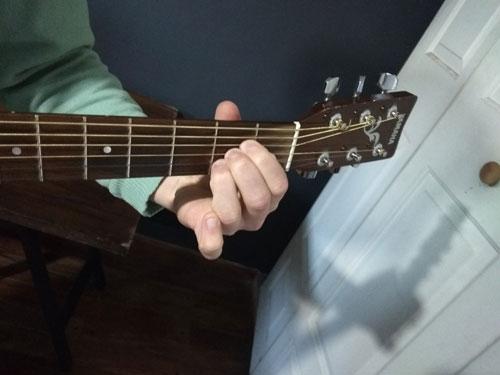 la en guitarra