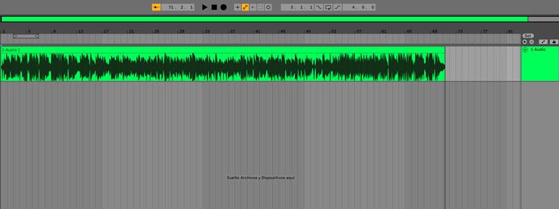 grabación en software ableton