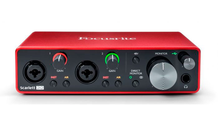 interfaz de audio scarlett 2i2