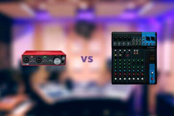 interfaz de audio o mezcladora de audio