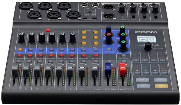 mixer zoom livetrack l8