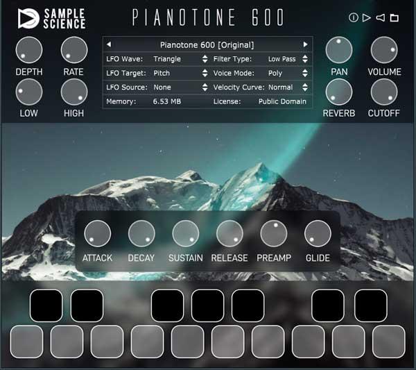 piano tone 600