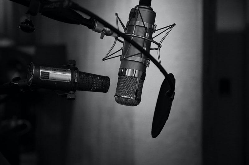 micrófono de condensador de diafragma grande