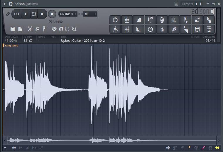 editor de audio edison