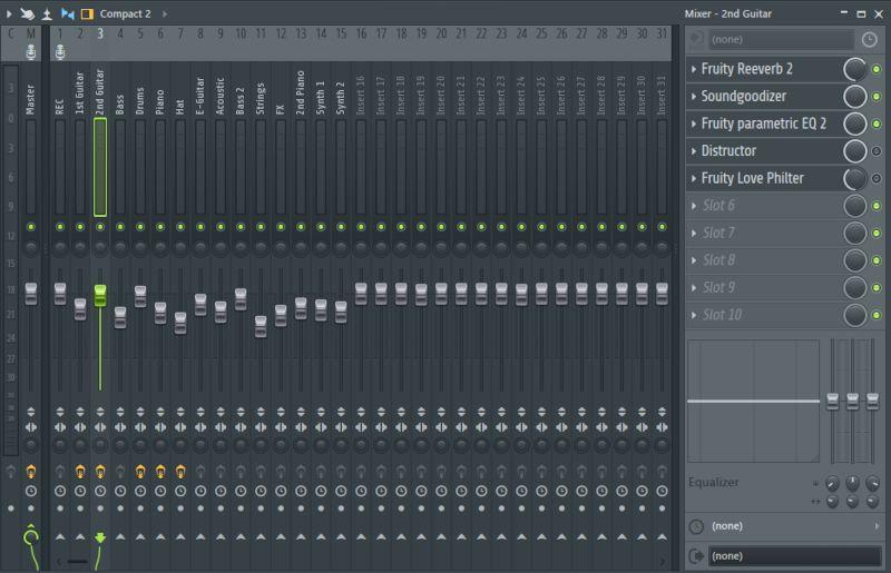 mezclador del fl studio