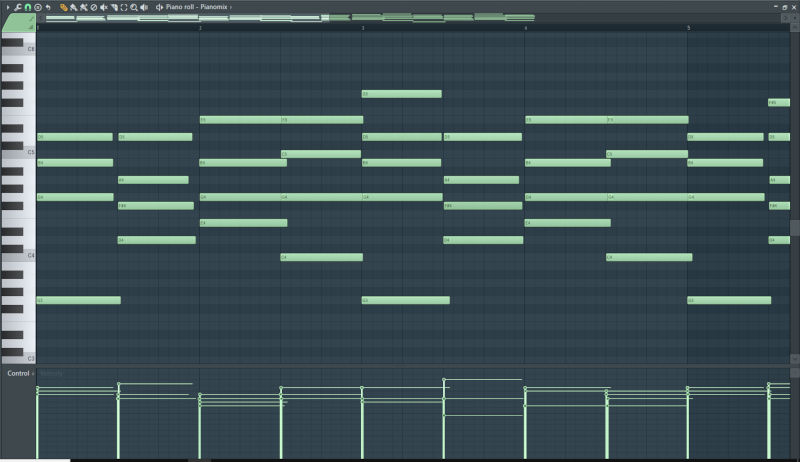piano roll de fl studio